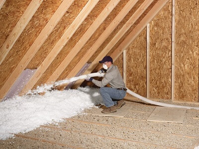 Adding insulation to an attic