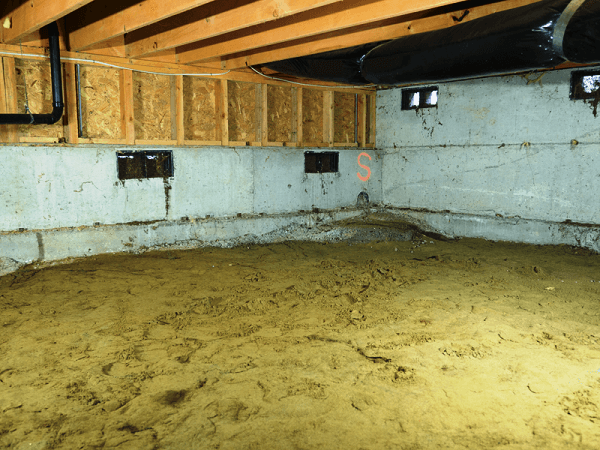Insulation Removed from Crawlspace