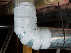 Properly sealed air duct.